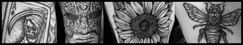 Black work tattoos by Fred Nitzman