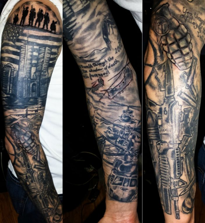 sleeve tattoo tattoos st petersburg fl artist fufred. Black Bedroom Furniture Sets. Home Design Ideas