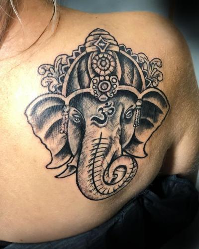 Ganesha design for cover up