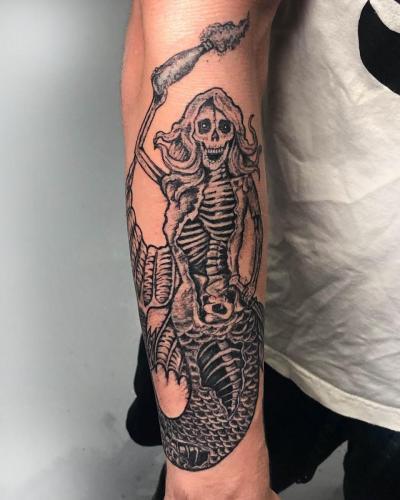 Evil Skeleton Mermaid