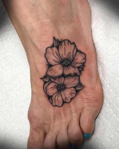 Foot tattoo Flowers