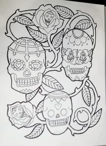 Sugar Skull outline