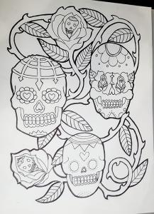 Sugar Skull outline